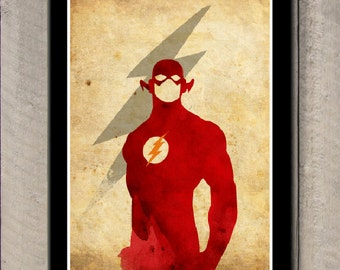 Minimalist Superheroes Poster - Flash