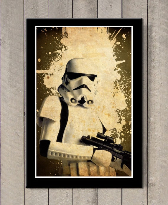 Vintage Star Wars Stormtrooper Art Poster