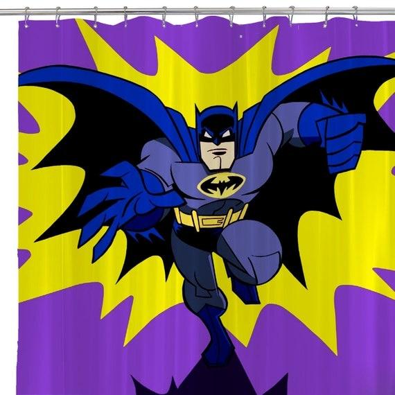 Printed Pop Art Batman Shower Curtain Bathroom Home Decoration Retro ...