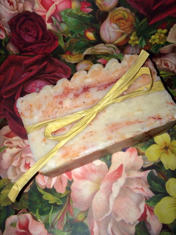 Georgia Peach homemade olive oil soap