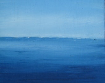 Sea and sky, painting to the oil original, painting small of 21 x 16 cm, paint maritima
