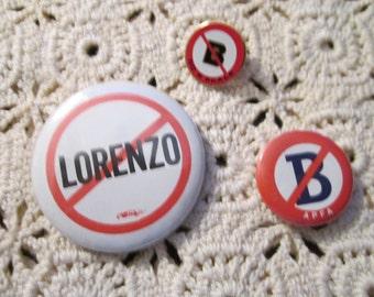 Souvenir Airline Political Buttons - set of 3