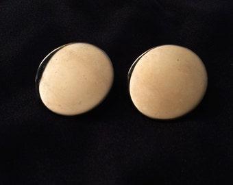 Vintage Clip-On Disc Earrings