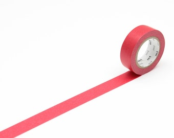 MT Washi Tape Red Japanese Masking Tape MT Tape Solid Color Basic Color 1P (MT01P181)