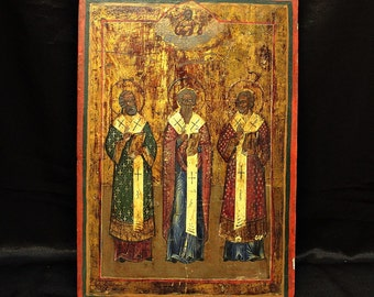 Antique original perfect russian hand painted icon
