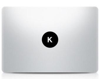 Alphabet Macbook letter Decal, Sticker. A-Z