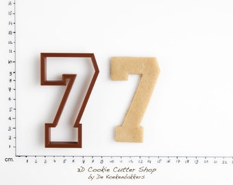 Sports Number Seven Cookie Cutter