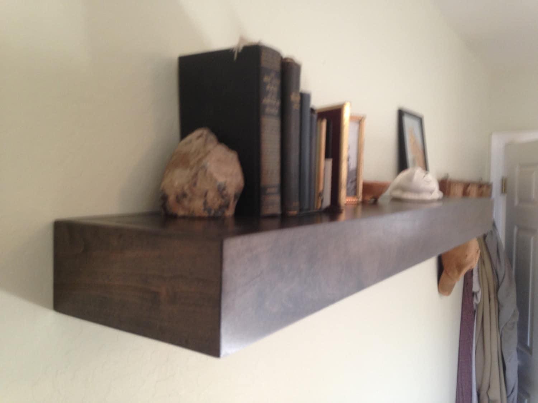floating shelf 50 39 39 deep floating shelffloating. Black Bedroom Furniture Sets. Home Design Ideas