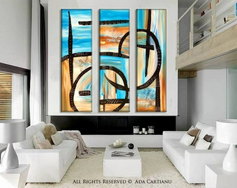 """Acrylic Painting LargeAbstract, ORIGINAL 36""""Abstract Painting, Original Acrylic Painting on Canvas Contemporary Painting Wall Art"""