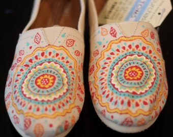 Colorful hand painted Toms - Any size