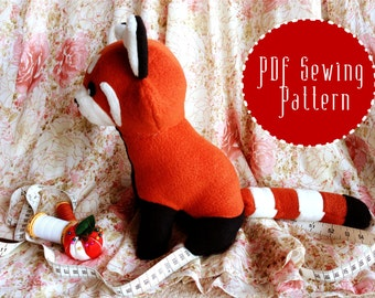 Red Panda Plush plush pattern stuffed animal sewing PDF