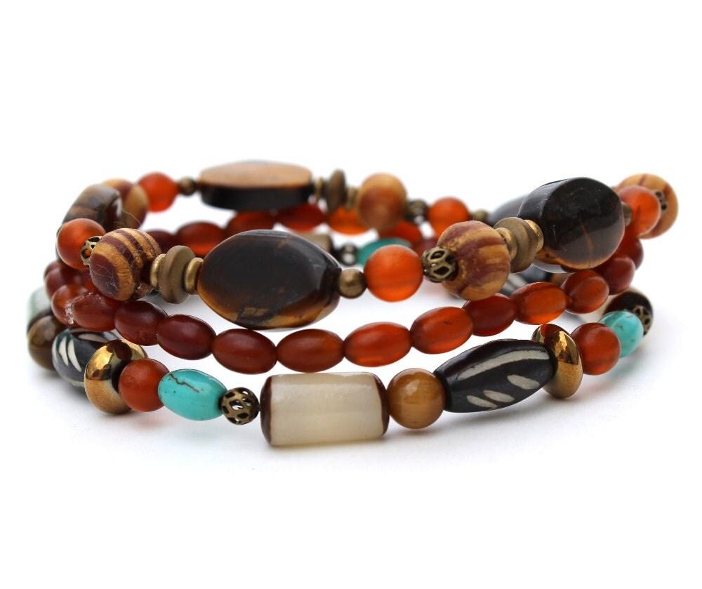 s bracelet set warm colors