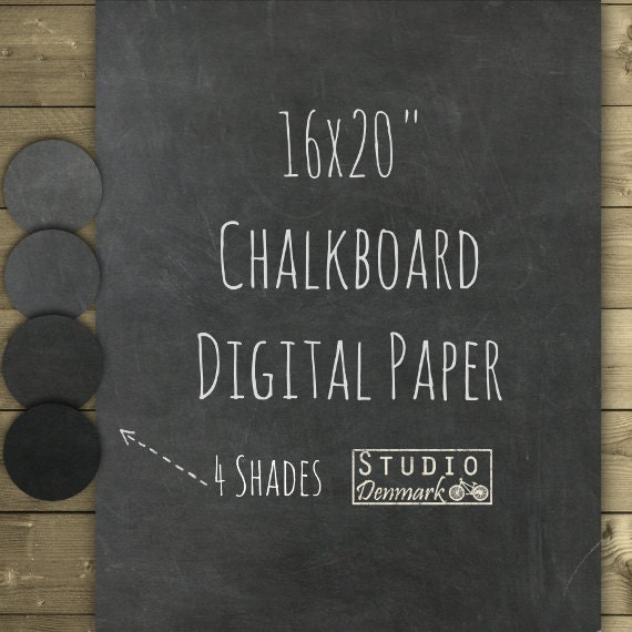chalkboard digital paper 16x20 clean chalkboard. Black Bedroom Furniture Sets. Home Design Ideas
