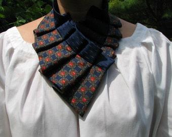 Silk Necktie Collar - Silk Necktie  Necklace - Unique accessorie - Ruby is Beautiful