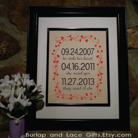 Cotton Wedding Anniversary Gift Ideas For Wife : Gift - 2nd Anniversary Cotton Gift - Engagement Gift - Gift for Wife ...