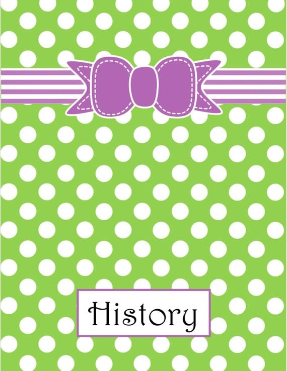 Items Similar To Polka Dots And Bows Binder Covers With