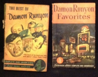 Two Books Damon Runyon from 1940's  free shipping within the US