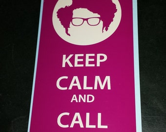 IT Crowd Moss Decal Keep Calm and Call 0118.... Sticker