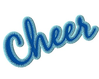Large Cheer Lettering 1 Machine Embroidery Design