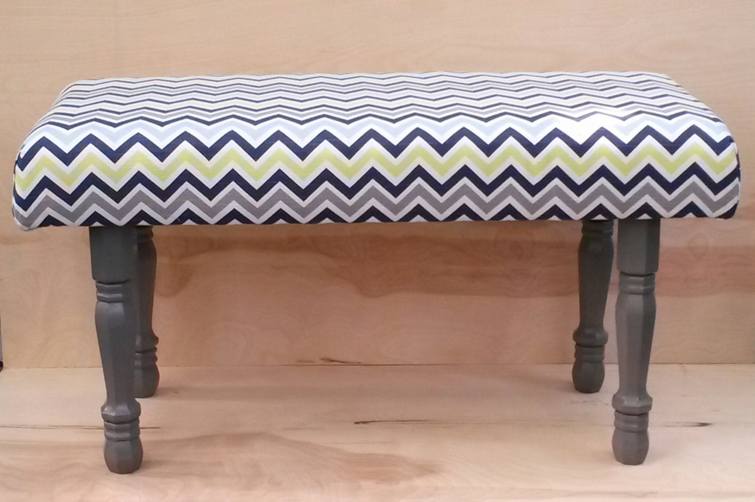 Sale Free Shipping Upholstered Bench Green Blue And