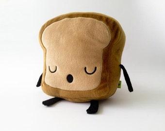 Mr. Little Bread slice Cute Plush, Toy Kawaii Plushie, food plush kawaii, cute toast plushie, plush toy, toast pillow, kawaii plush toy