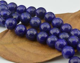16INCH  Lapis  Lazuli   Natural Gemstone Loose beads- Round