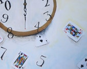 Surreal clock painting.