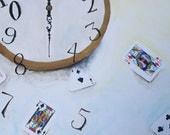 Surreal clock painting.