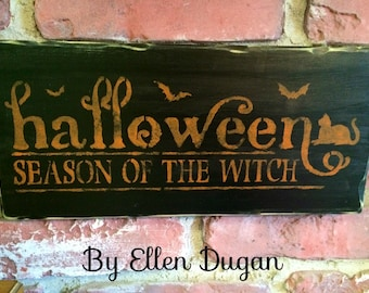 Halloween Season of the Witch Sign (Black)