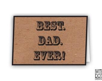 Best Dad Ever Printable Card