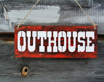 OUTHOUSE wood sign, vintage, rustic, farm, shabby,primitive decor, country wedding, barn weddings,outhouse,chic,shabby,antique,vintage decor