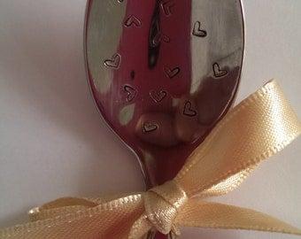 Lots of Love Loveheart hand engraved Teaspoon - for weddings, birthdays or engagements