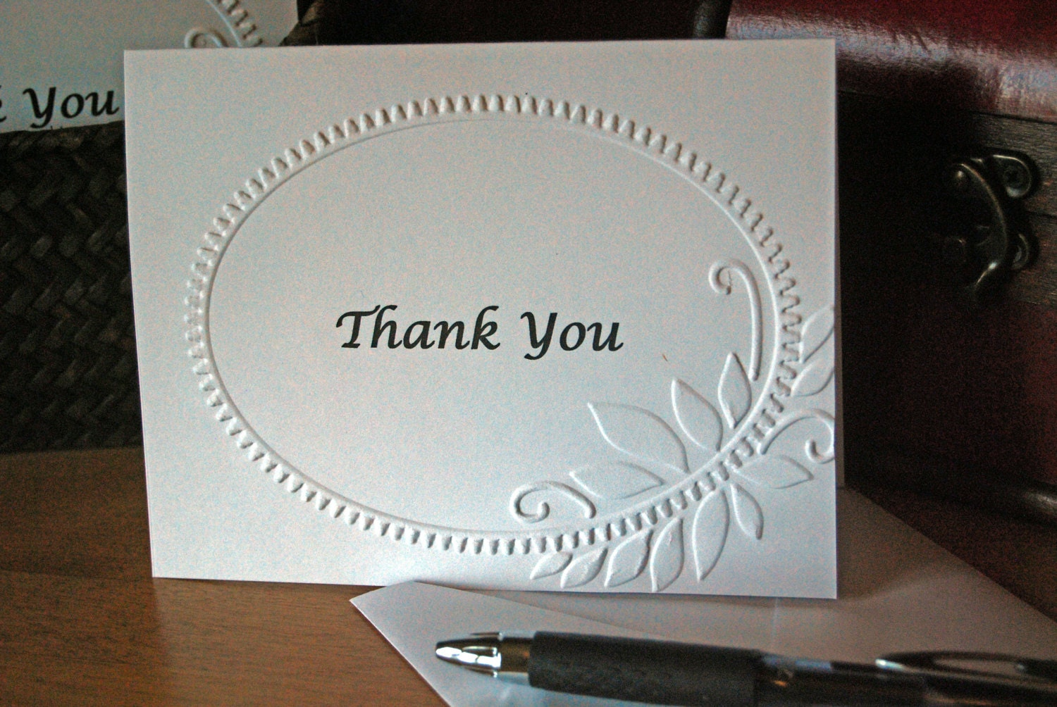 thank you cards personalized bulk wedding thank you embossed