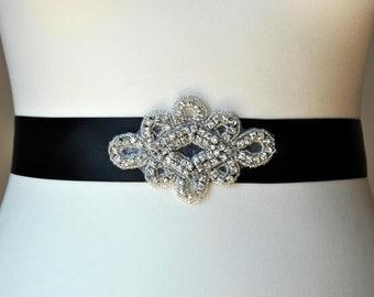 Rhinestone Sash, Bridal Sash,Wedding Dress Sash Belt Flower girl Rhinestone Bridal Bridesmaid Sash Belt, Wedding dress sash
