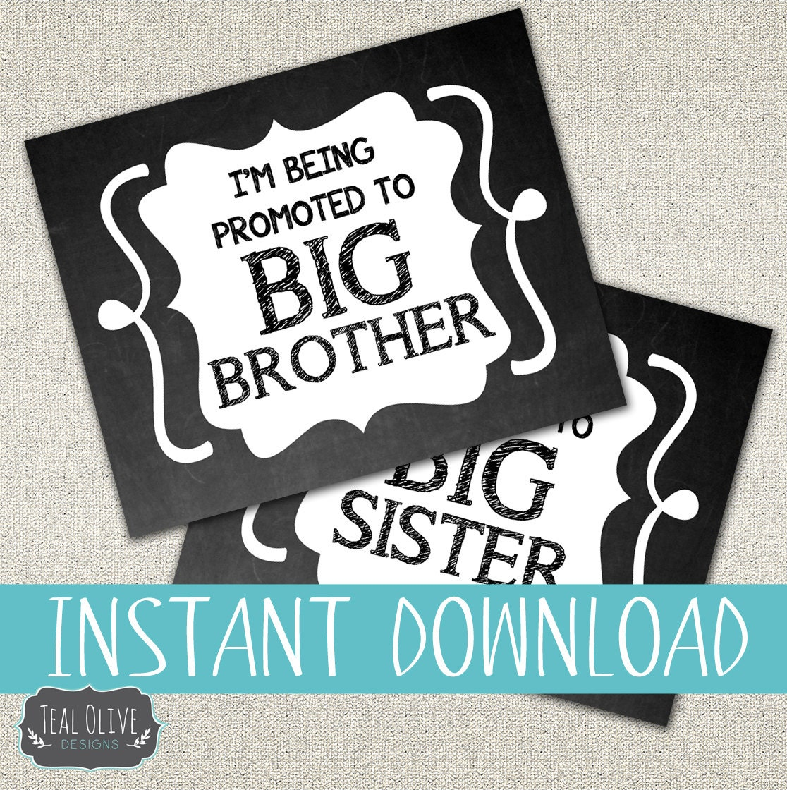 New Baby Coming DIY Printable Sign I'm Being Promoted To
