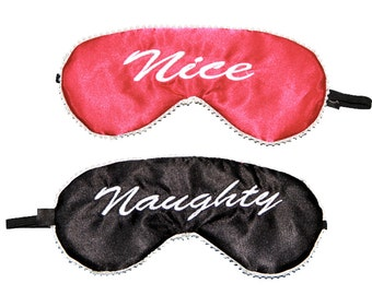 Naughty & Nice (reversible) Eye Mask