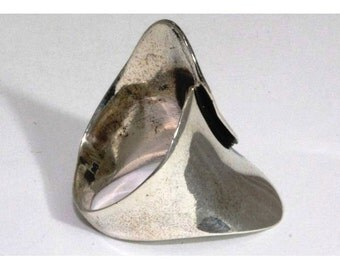 Silver ring, big silver ring gift for her, silver jewelry