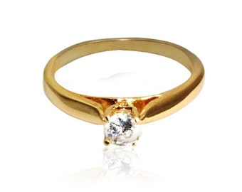 Thin gold ring -gold filled ring gift for women