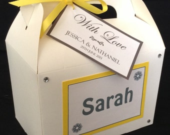 Personalised Childrens Kids Wedding Activity Box Favour Bag Favor Gift - WHITE BOX