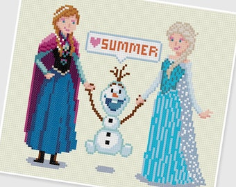 PDF Cross Stitch pattern - Frozen - INSTANT DOWNLOAD