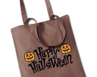 Happy Halloween Pumpkin Tote Bag Trick Or Treat Sweet Bag My First Halloween Retro Cool Silhouette Novelty Fancy Dress Shoulder Bag Handbag