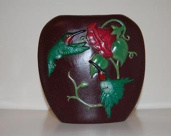 Ceramic Hummingbird Pillow Vase