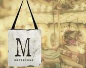 Monogram, Tote Bag, Book Bag, Grocery Bag, Bible Tote