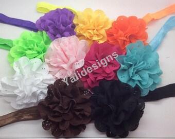 U Pick Wholesales Chiffon Headband Baby Headbands. Hollow Headband Newborns Headbands. Girl's Headband YTH12