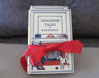 Set of 2 Books Tanglewood Tales and Tales From Shakespeare Children's Vintage Story Book Sears Juvenile Classics