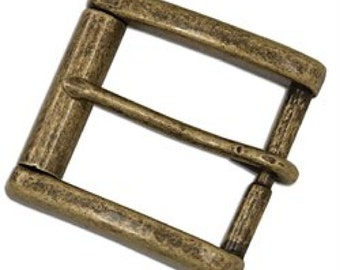 "Monti Roller Buckle 1-1/2"" Antique Brass Finish 1646-09 by Tandy Leather"