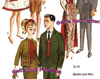 Wardrobe Pattern for Barbie and Ken