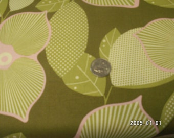 green floral free spirit fabric
