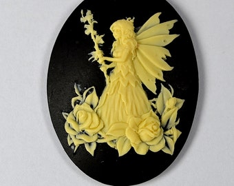 Fairy  Cameo Flexible Mold Mould For Resin Polymer Clay Chocolate Food Safe Silicone no.12