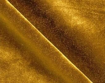 Stretch Velvet Dark Gold 60 Inch Fabric by the Yard